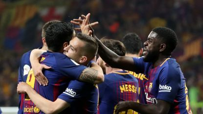 MULTILIVE BUITENLAND: Barcelona op cruise control richting Copa Del Rey: 4-0 al tegen Sevilla