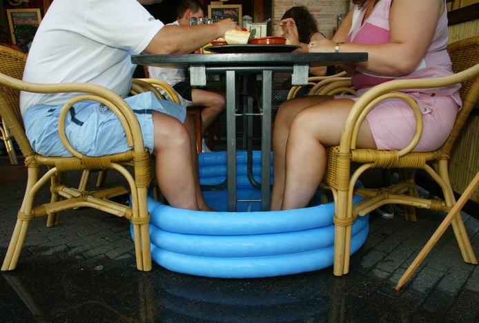 Opblaasbadjes komen weer van pas, de komende dagen. (archieffoto)