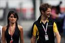 Romain Grosjean et Marion Jollès en 2011.