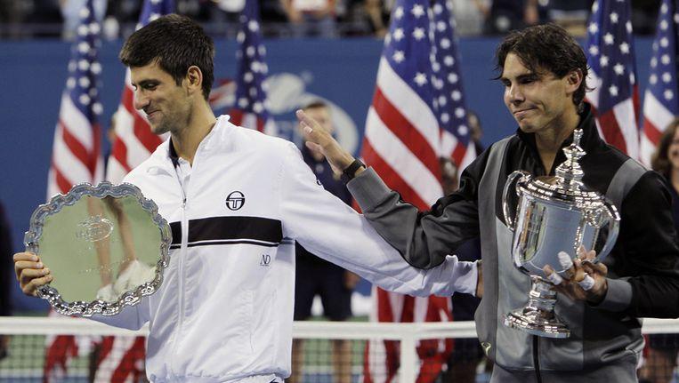Vorig jaar was Nadal in de US Open-finale nog de baas over Djokovic. Beeld ap