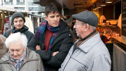 Sp.a-voorzitter Conner Rousseau begint in thuisstad aan campagne langs markten