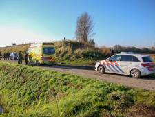 Vrouw krijgt hagelkogeltjes in gezicht in Rilland