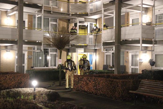 Brand in trappenhuis Acaciahof in Pijnacker