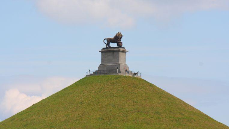 De Leeuw van Waterloo, het herdenkingsmonument dat de Nederlandse koning Willem I liet bouwen als herinnering aan de gewonnen veldslag in 1815.