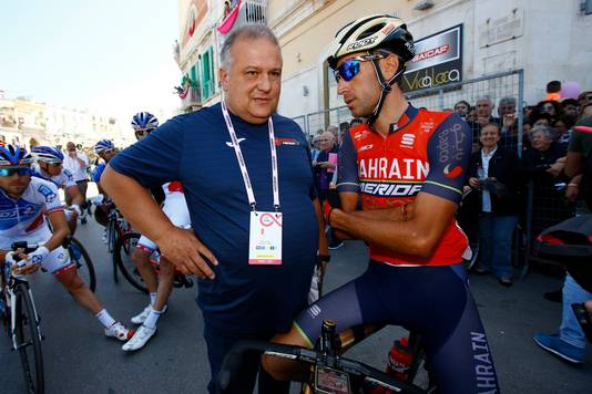 Paolo Slongo met Vincenzo Nibali.