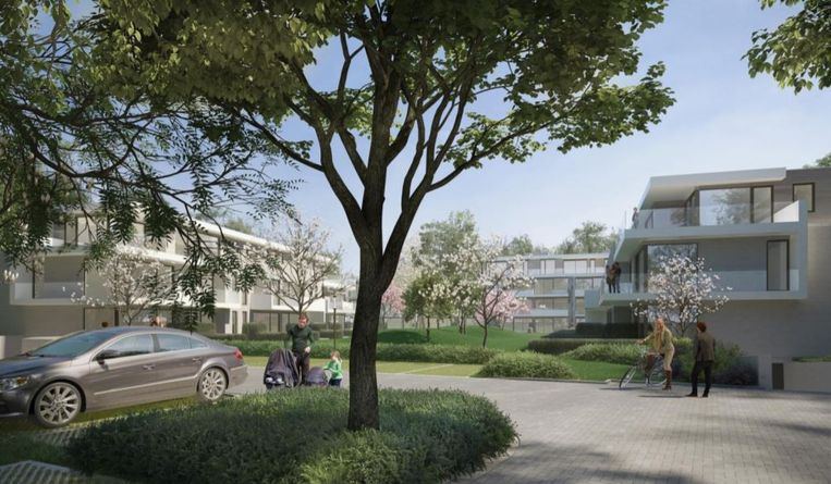 Een conceptbeeld van 'Ter Hulste' uit de stedenbouwkundige aanvraag.