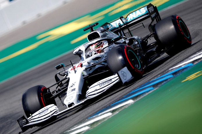 Formula One F1 - German Grand Prix - Hockenheimring, Hockenheim, Germany - July 27, 2019   Mercedes' Lewis Hamilton during qualifying   REUTERS/Kai Pfaffenbach