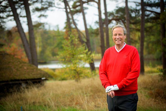 Directeur NXP Nederland Guido Dierick op de golfbaan van de Eindhovenshe Golf, waar hij voorzitter is.