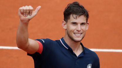Dominic Thiem droogt Alexander Zverev af en bereikt halve finales