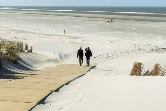 Het strand van Ameland.