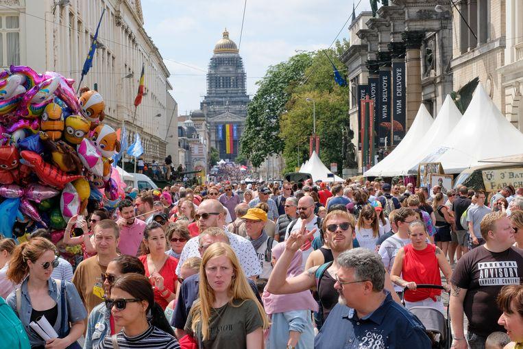 Nationale feestdag: tussen het Poelaartplein en Warandepark bezoeken duizenden mensen de verschillende standjes.