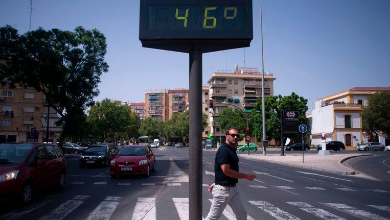 In Sevilla gaf de thermometer vanmiddag al 46 graden aan.
