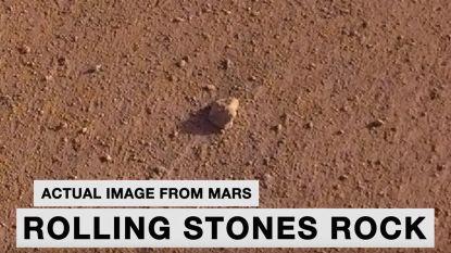 NASA geeft steen op Mars de naam 'Rolling Stones'