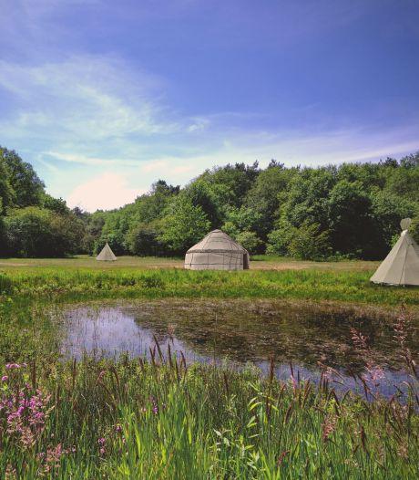 Tipi's bij de vennen op St. Walrick: camping De Wereld is geopend