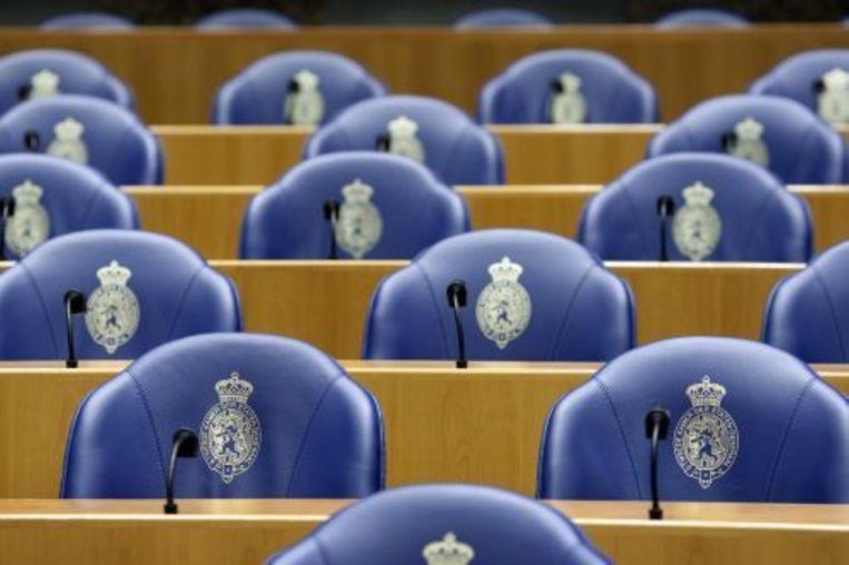 Interieur van de plenaire zaal van de Tweede Kamer. ANP Beeld