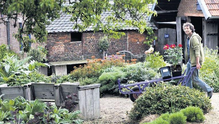 Kweker Roger Bastin op zijn bedrijf in het Zuid-Limburgse Aalbeek. 'Je moet planten kiezen die passen bij de grondsoort.' Beeld Roger Dohmen