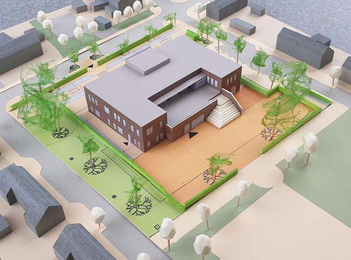 Zo wordt de nieuwe basisschool De Berk, na fusie Klimop- en Theresiaschool, in Kaatsheuvel.