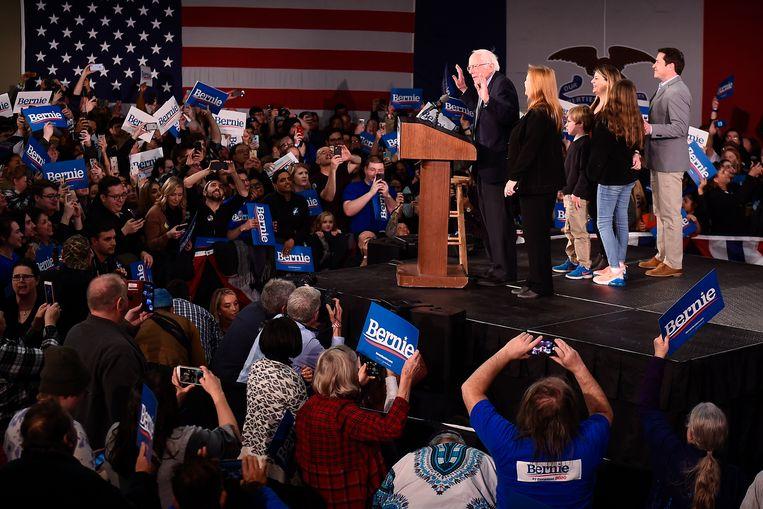 Volgens het campagneteam van Bernie Sanders is hij alvast de winnaar van de caucus.