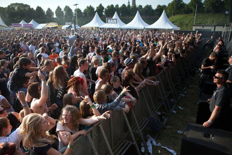 Het festival Vestrock in Hulst.