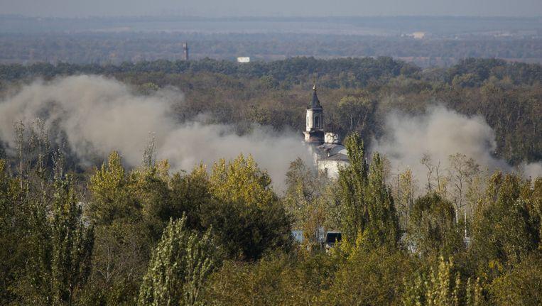 In de buurt van de luchthaven van Donetsk vonden vandaag artilleriegevechten plaats.