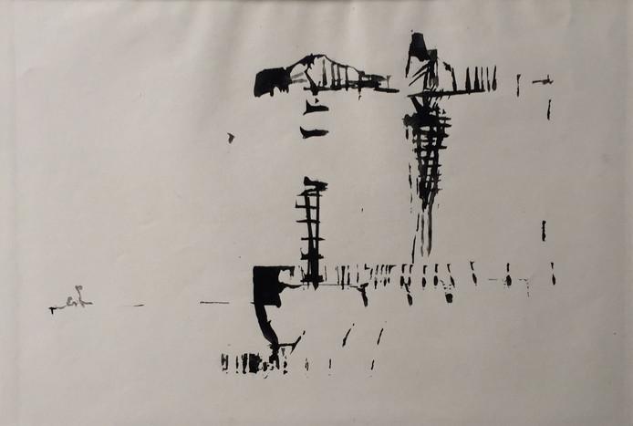 Tekening van de Verolme-scheepswerf Heusden (1959).