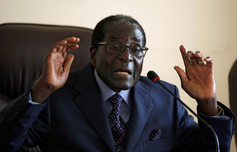 Robert Mugabe op een foto uit 2013.