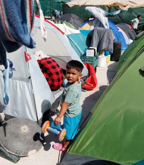 Protest in Wageningen tegen Nederlandse vluchtelingenbeleid