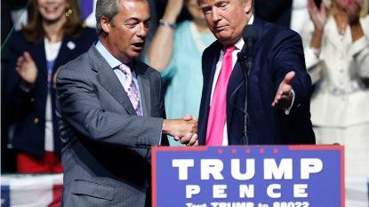 """Trump looft Boris Johnson en Nigel Farage kort voor Brits staatsbezoek: """"Ontmoeting niet uitgesloten"""""""