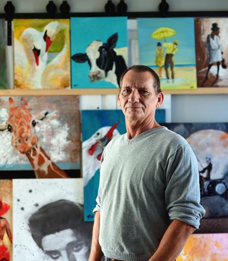 Deze man uit Hoogerheide heeft PTSS en vindt rust in het schilderen