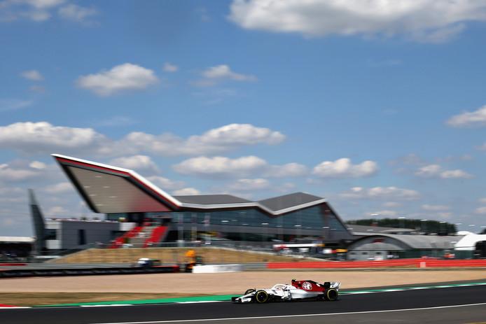 Het circuit van Silverstone.