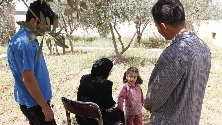 Syrische vluchtelingen in Jordanië. Beeld epa