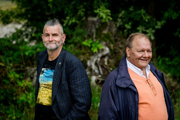 René Beunders (rechts) met de man die een nier aan hem wil doneren, Jerûn Dreves uit Groningen.