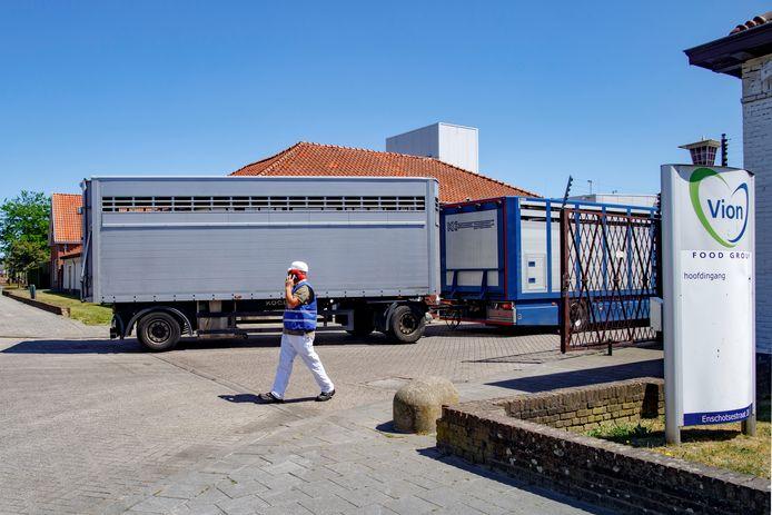 Het Vion-slachthuis in Tilburg is door de GGD vooralsnog niet onderzocht op coronabesmettingen