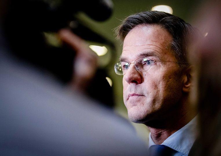 Premier Mark Rutte dinsdag voorafgaan aan het Vragenuur in de Tweede Kamer.  Beeld ANP - Sem van der Wal