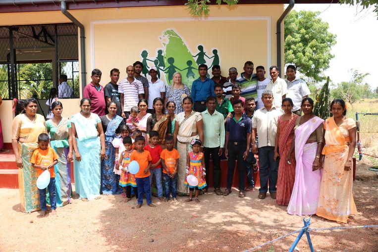 Adoptie Sri Lanka vzw bij de opening van een nieuwe kleuterschool in Sri Lanka