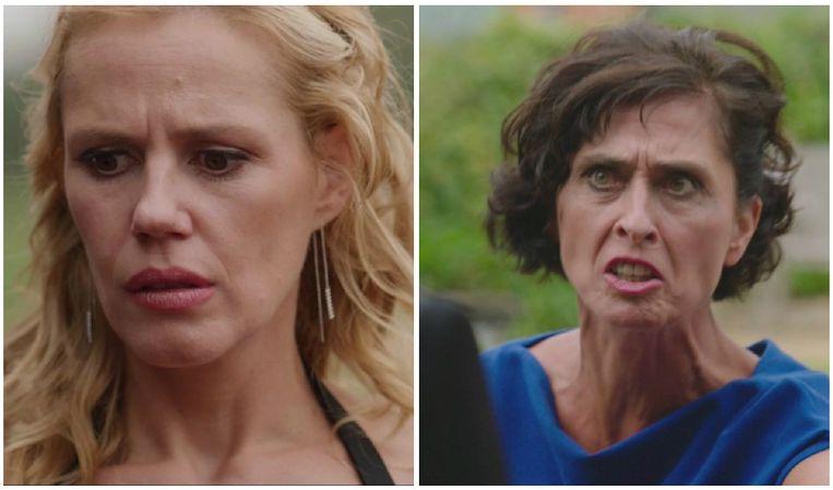 Dokter Judith (Katrien De Ruysscher) (links) ontdekt door dokter Ann (Monika Van Lierde) (rechts) het bedrog van Tom.
