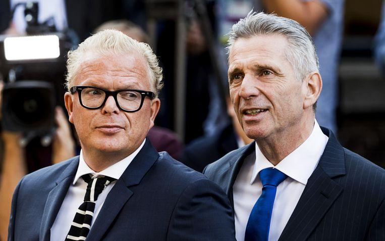 VNL-politici Jan Roos en Louis Bontes. Beeld anp