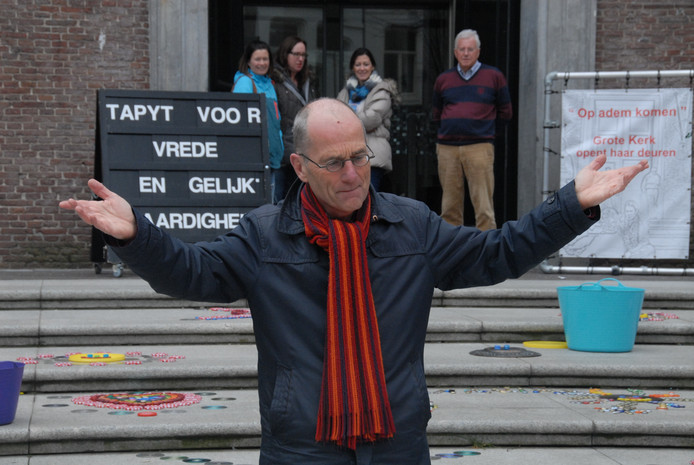 Dominee Peter van Helden is een van de initiators van de happening