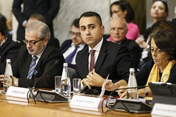 De Italiaanse minister van Buitenlandse zaken Luigi Di Maio.