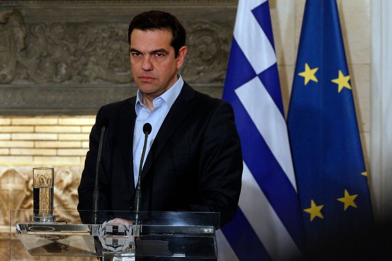 De Griekse premier Alexis Tsipras opperde gisteren de mogelijkheid van een extra 'eurozone-top'.  Beeld EPA