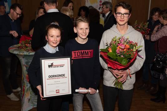 Fien, Menno en Harald, Amersfoorters van het Jaar 2018.