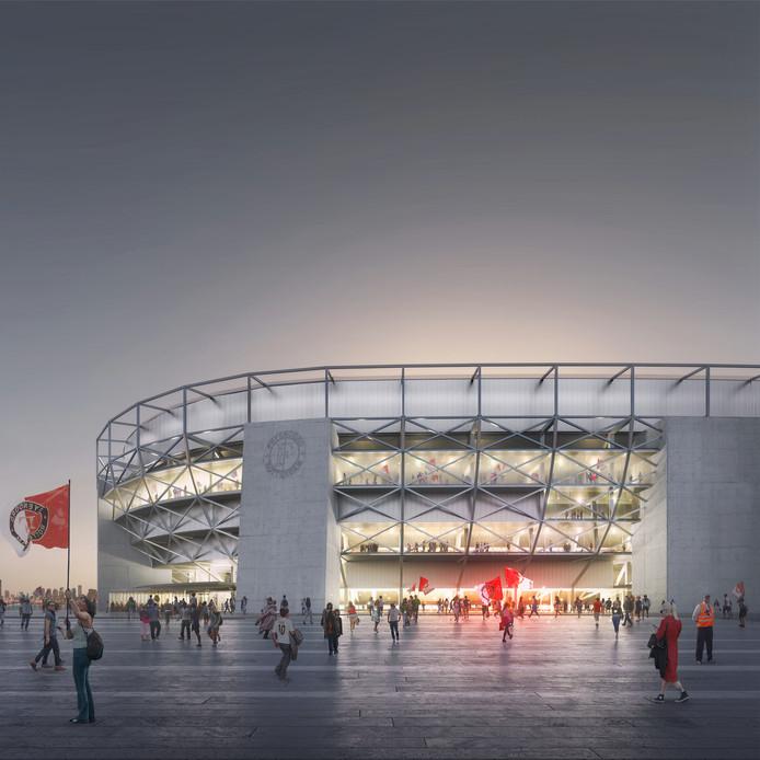 Impressie nieuwe Feyenoord Stadion