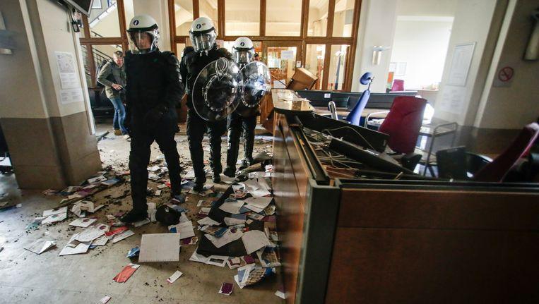 In mei 2016 stormden cipiers het bureau van minister Koen Geens binnen en sloegen er alles kort en klein.