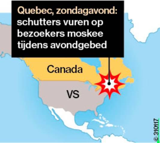 Infographic aanslag moskee Quebec