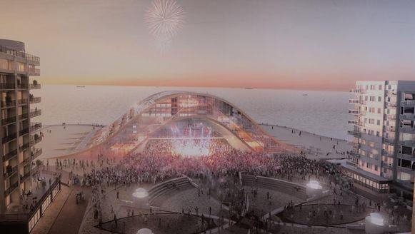 Een simulatie van het nieuwe casino van Middelkerke.
