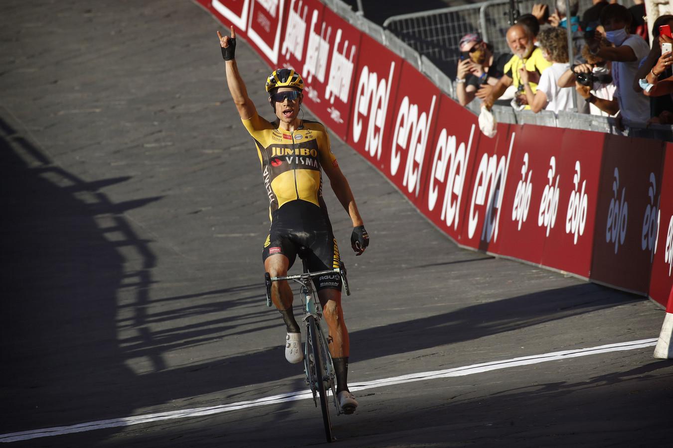 Van Aert won vorige week de Strade Bianche op indrukwekkende wijze.