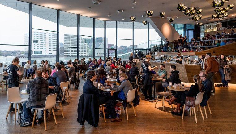De bescheiden inrichting van het restaurant in Eye hint meer naar Hollandse appeltaart dan naar Hollywood Beeld Rink Hof