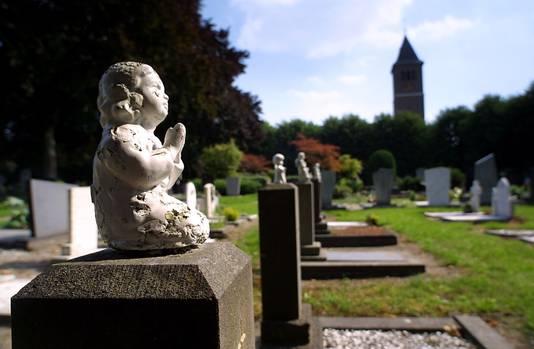 Reek, begraafplaats en kerk.