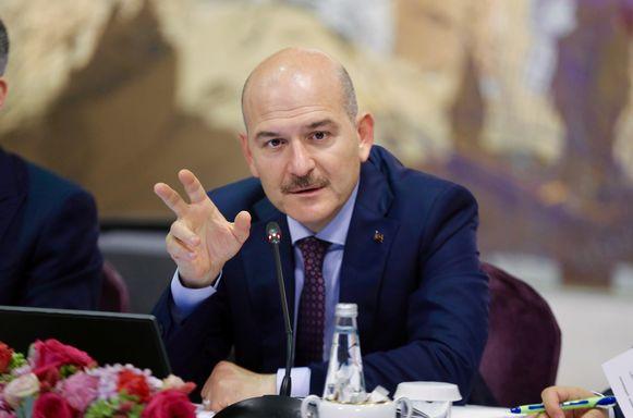 De Turkse minister van Binnenlandse Zaken Süleyman Soylu.