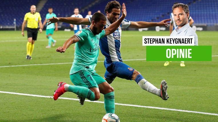 Eden Hazard blijft last hebben van de enkel.